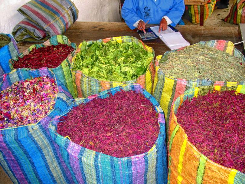 Einige der hochwertigen Zutaten von Horchata lojana